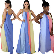 Multicolored Spliced Dresses