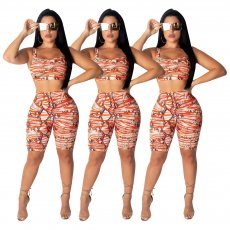 Sexy Snake Print hollow out two pieces set