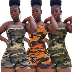 Fashion casual camouflage Jumpsuit