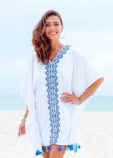 Embroidered beach skirt blouse