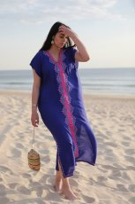 Cotton embroidered sandy gown beach skirt