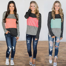 Fashion printed T-shirt with long sleeves
