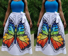 Fashion Printed Half-length Skirt