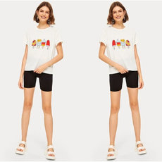Ice Cream Printed Pure Short-sleeved T-shirt
