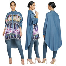 Fashion women's cloak, jacket, shirt and skirt