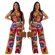Digital Printed Fashion Pants Two-piece Set