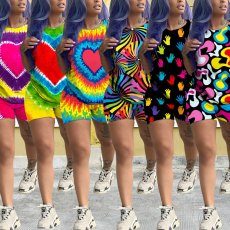 Leisure Printing Multicolor Two-piece Set