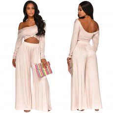 Casual Pure Color Two-piece Set