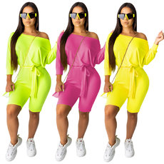 Pure colour Jumpsuits