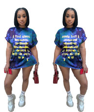 Digital Printed Graffiti Letter Dress