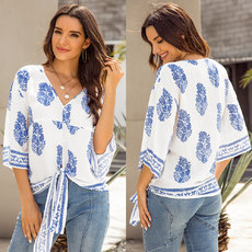 Bohemian Ethnic Style Oriented Printed Shirts