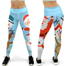 Christmas printed tights