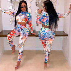 Location Printing Fashion and Leisure Two-piece Set