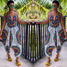 African fashion totem printed loose-fitting pants