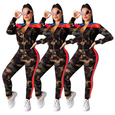Camouflage printing 3-color stitching suit
