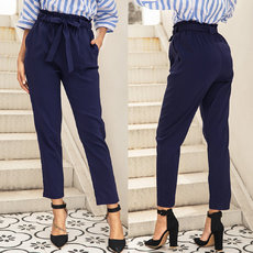 Butterfly-tied pocket trousers