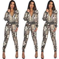 Fashion self-cultivation Snake Print two-piece suit