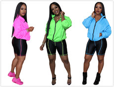 Multicolor Sports Wind Two-piece Set
