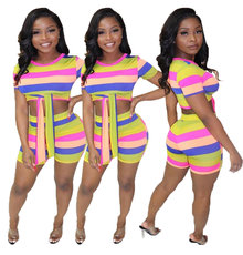 Fashion Leisure Printing Two-piece Set