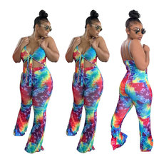 Fashion leisure printed Jumpsuits