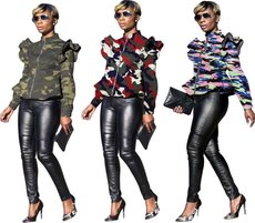 Fashion camouflage collar jacket
