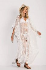 Mesh embroidered robe beach skirt sunscreen shirt