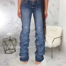 Mother embroidered jeans