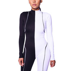 Black and white one piece long sleeve