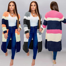 Fashion contrast sweater cardigan coat