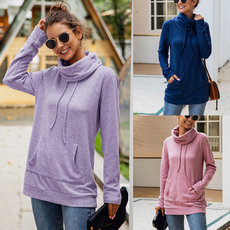 Fashion high neck long sleeve top