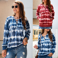 Fashion gradient long sleeve Hoodie sweater