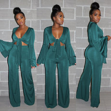 Pure color  Two piece suit