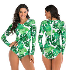 One piece long sleeve surfing diving swimsuit