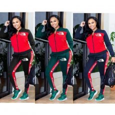 High elastic fashion sports suit with two pieces of leisure