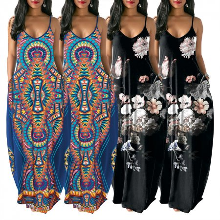 Orientation Printing Fashion National Style Dresses