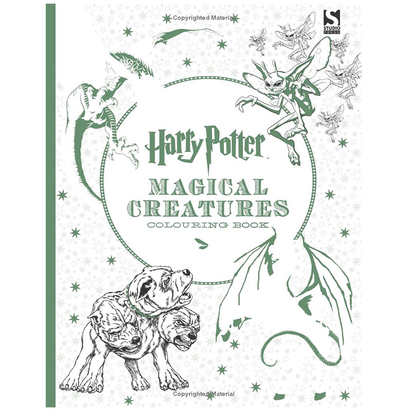 Harry Potter Magical Creatures Coloring Book Adult Stress Relieve Drawing  Book
