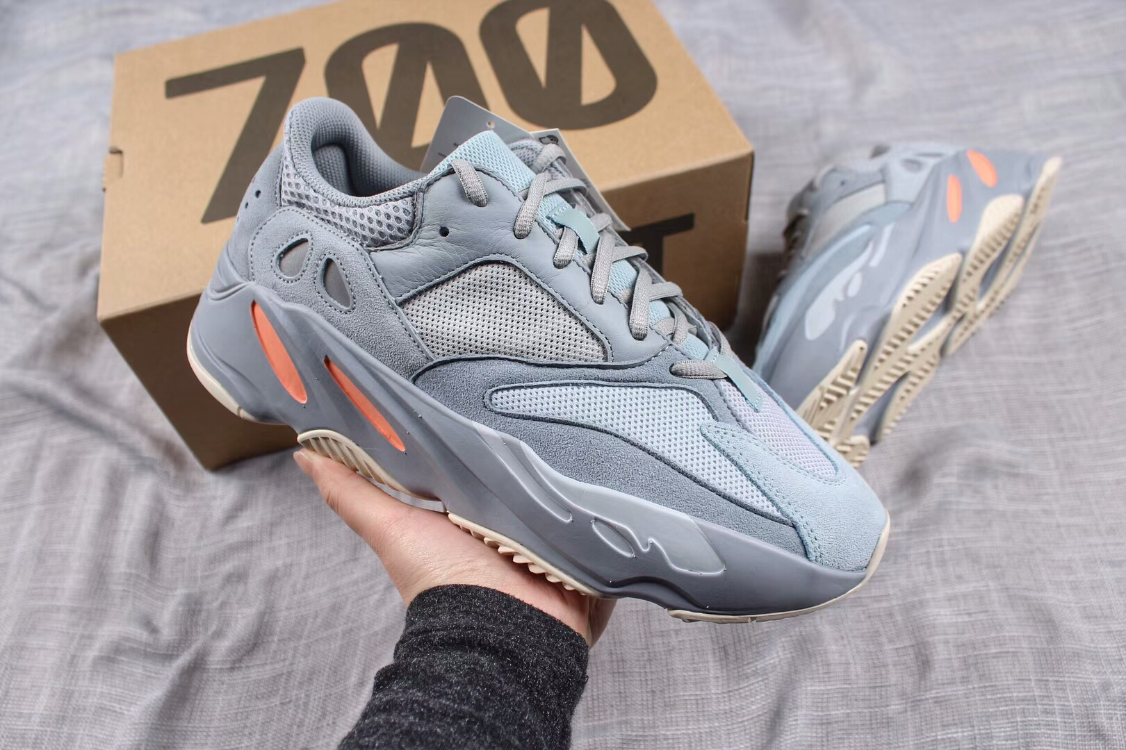 5bf1e39f4c165 Adidas Yeezy Boost 700 Inertia Sneakers