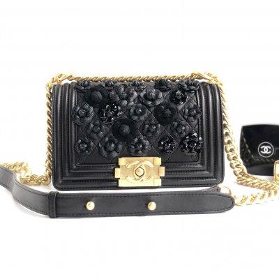3af291f7665e Chanel Embroidered Lambskin small boy chanel handbag SL9042151