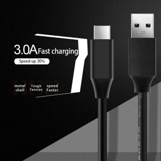 USB3.0 Fast Charge 3A High Speed Type C USB Cable