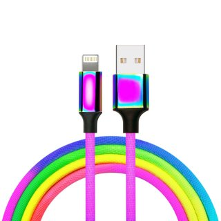 Rainbow Design Lightning USB A iPhone Cable Cord