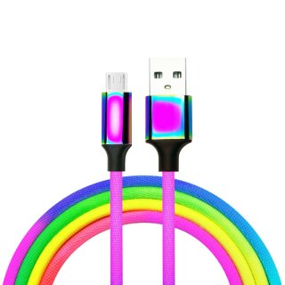 Rainbow Design Micro 5pin USB A Phone Cable Cord
