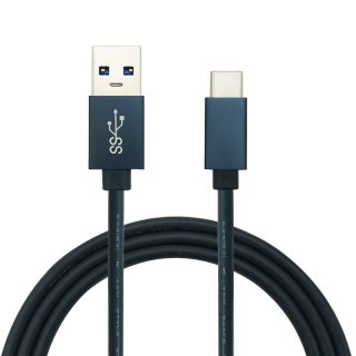 USB3.0 Alloy Housing USB C to USB A 5Gbps 2.4A Data Charge Cable