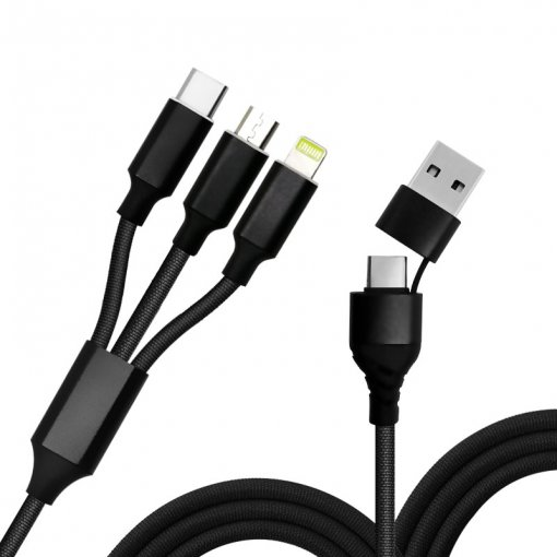 6 in 1 Phone Cable with Fast Charge and Data Sync as 6 Cables
