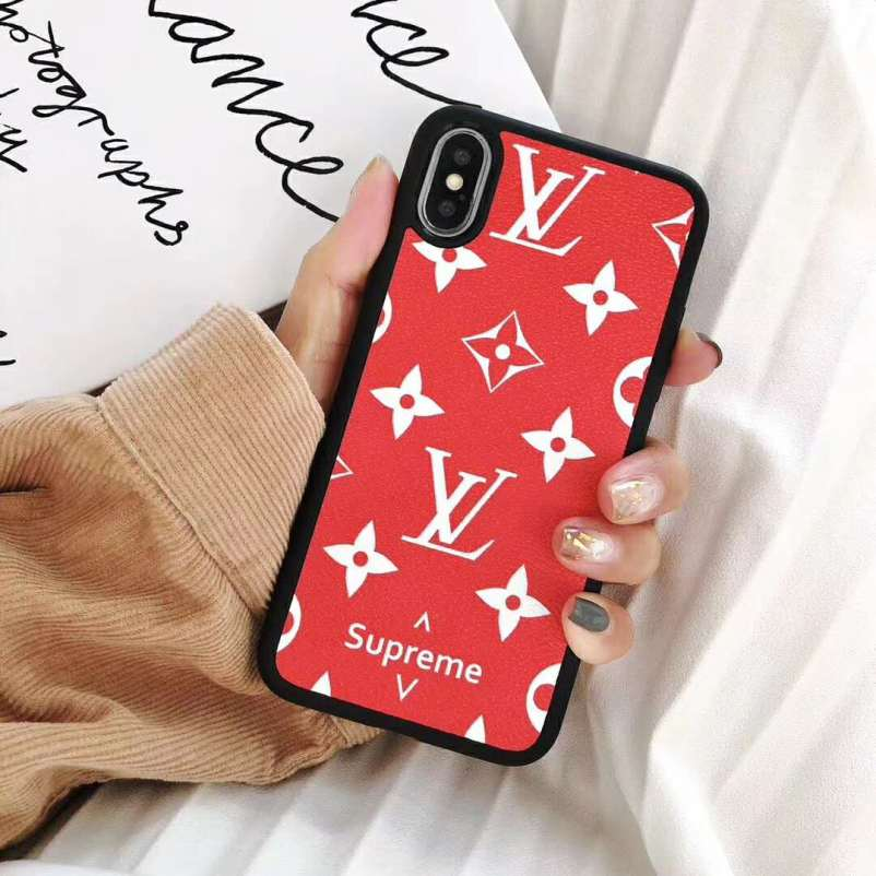 Luxury Full Cover Brand Printing Phone Cases For iPhone X XS Max Hard PC +  Soft TPU Silicone High quality Cases Cover For iPhone 7 8 6 6s Plus Coque