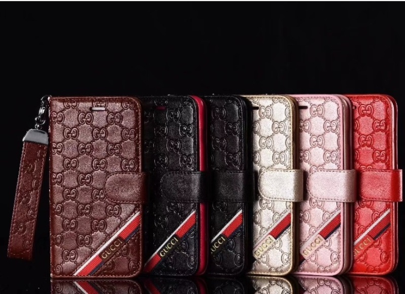 5c03136fe47 Luxury Brand PU Leather Classic Printing Card Slot Wallet Case For iPhone X  XR XS Max For iPhone 6 6S 7 8 Plus HandBag Leather Coque Item NO: ...