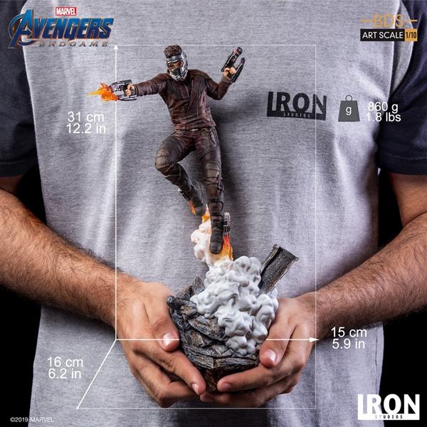 Iron Studios 1//10 art scale Avengers Endgame Starlord statue in stock