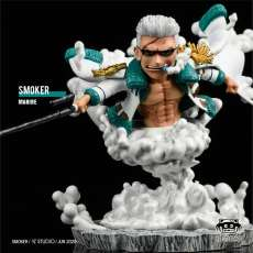 【Pre Order】Yz Studio One Piece Navy resonance series Smoker Resin Statue Deposit