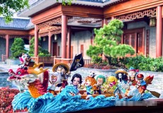【In Stock】LB Studio One-Piece Straw Hat Pirates Crew Row A Dragon Boat SD Resin Statue