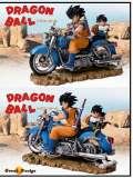 【Pre order】GD-Studio Dragon Ball Z Goku Father and Son on the Motorbike Resin Statue Deposit