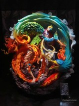 【In Stock】Miss Time Studio One Piece Ace&Marco Dragon and Phoenix Bringing Prosperity Resin Statue